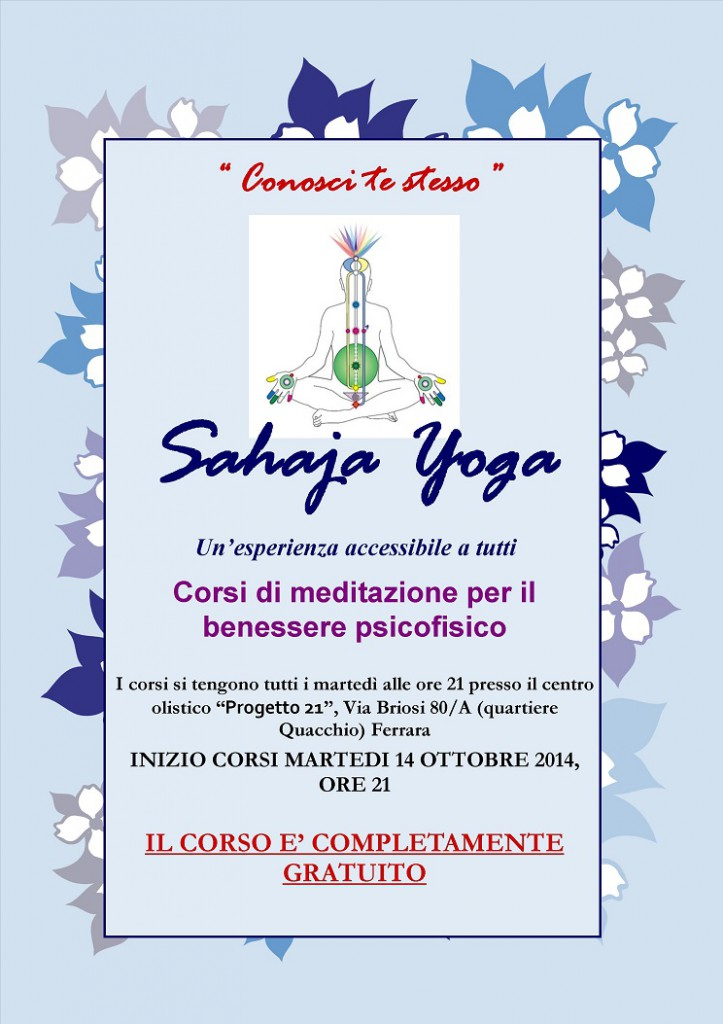 Corso di Sahaja Yoga  a Ferrara del 2014-2015